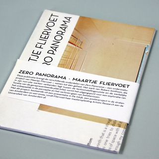 <strong>Artist Publication</strong><br/> <em>Zero Panorama</em><br/>by Maartje Fliervoet